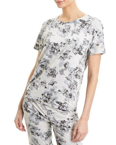lilacViscose Print Pyjama Top