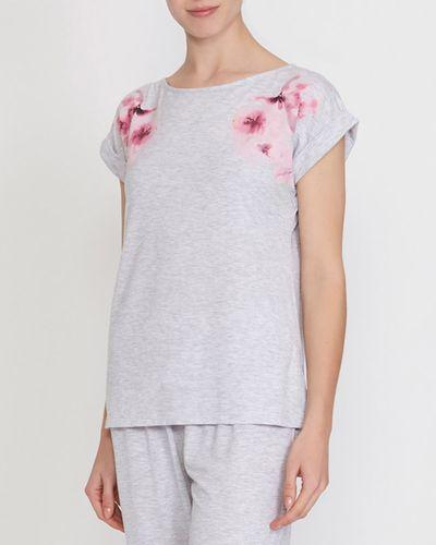 Floral Placement Pyjama Top