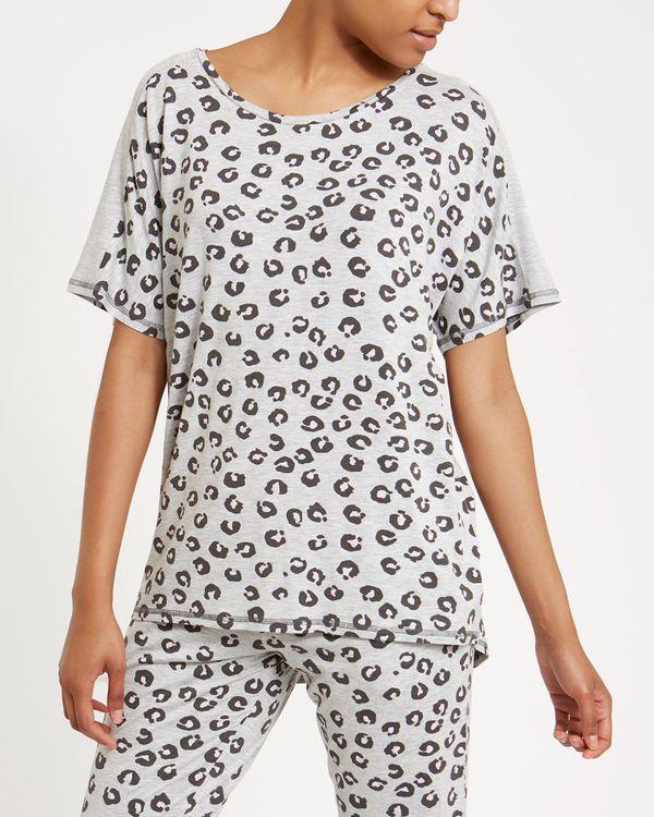 Animal Print Pyjama Top
