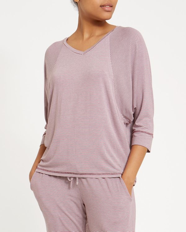 Stripe Batwing Pyjama Top