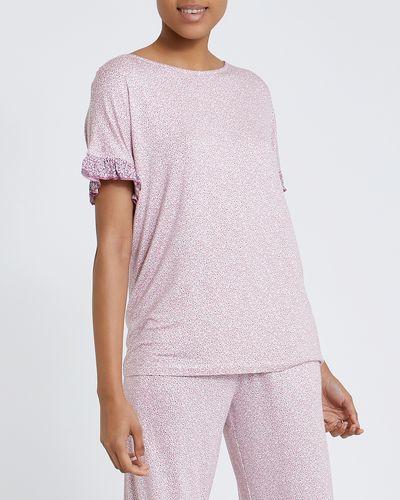 Ditsy Frill Sleeve T-Shirt