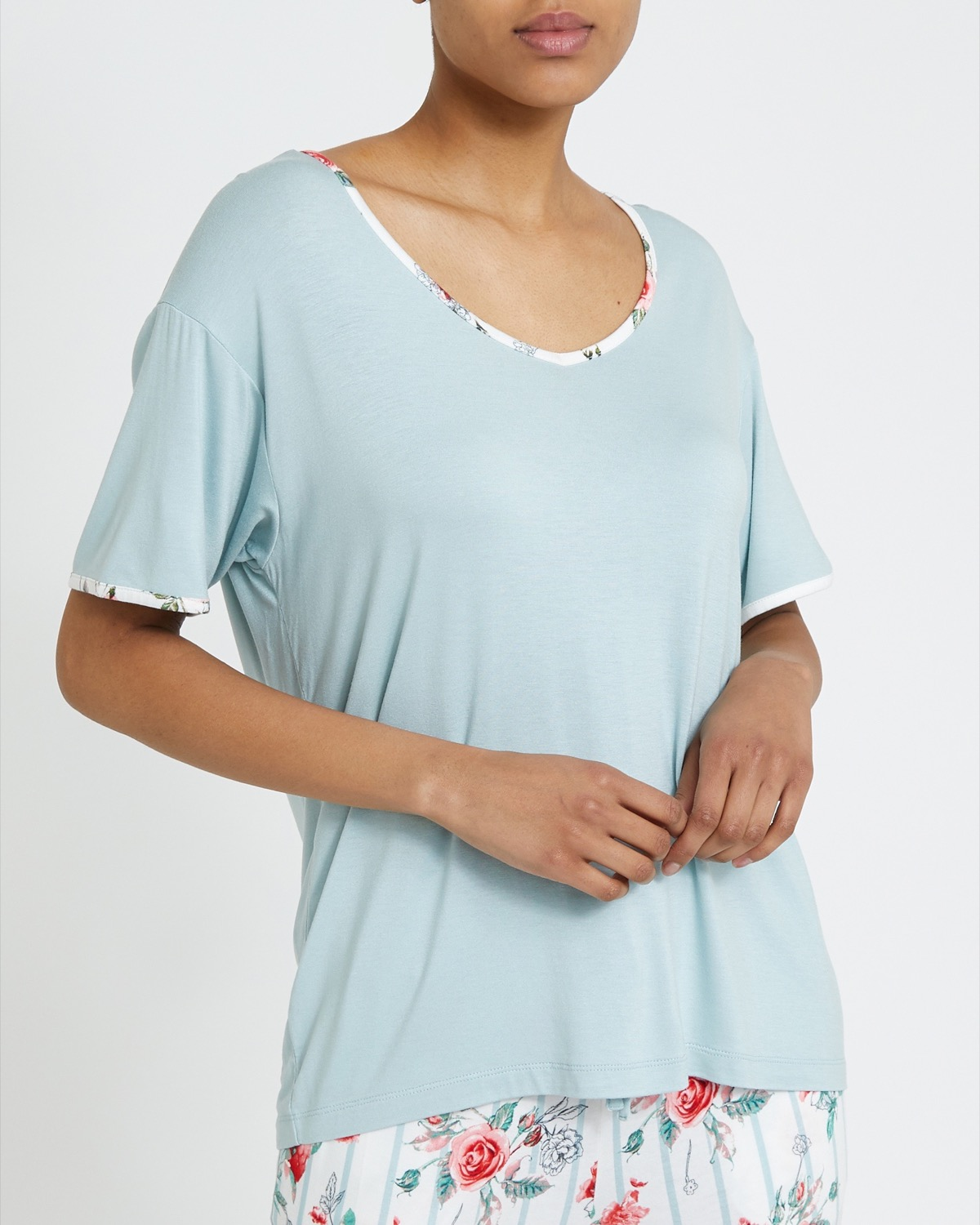 Sage Piped T-Shirt