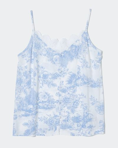 Blue Woven Camisole