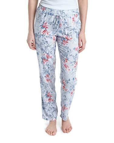 grey Water Floral Pyjama Bottoms