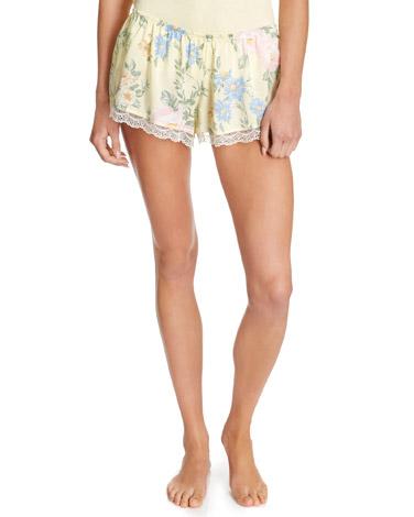 lemonLemon Print Pyjama Shorts