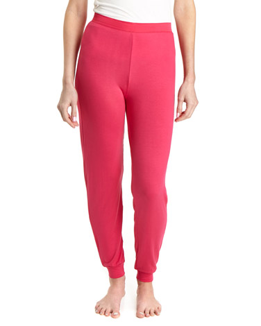 dark-pink Satin Trim Pants