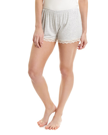 grey-marlViscose Pyjama Shorts