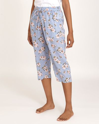 Blue Floral Pyjama Pants