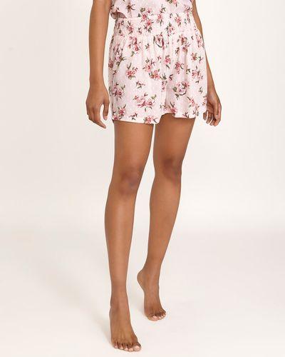 Pink Floral Pyjamas Shorts