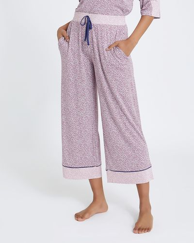 Ditsy Wide Leg Crop Pants