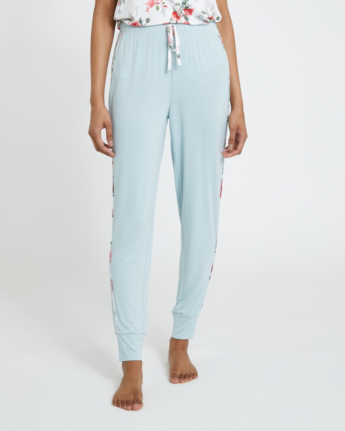 Sage Piped Joggers