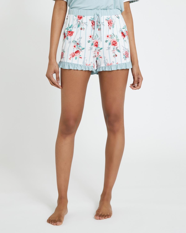 Sage Floral Shorts