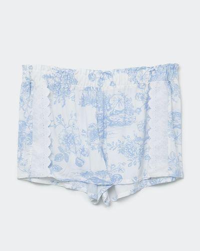 Blue Woven Shorts