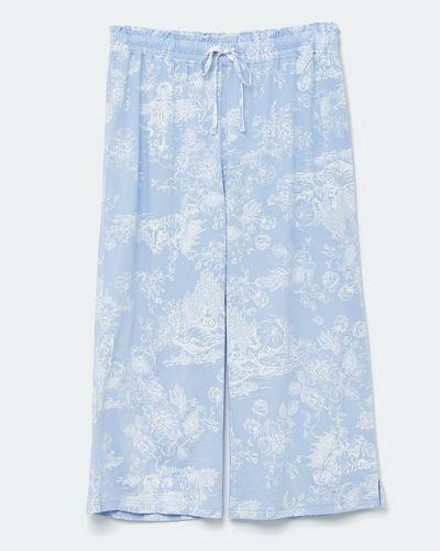 Modal Blue Print Crop Pants