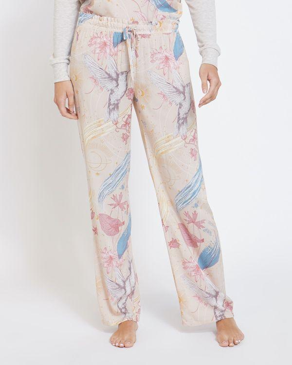 Woven Celestial Print Pants
