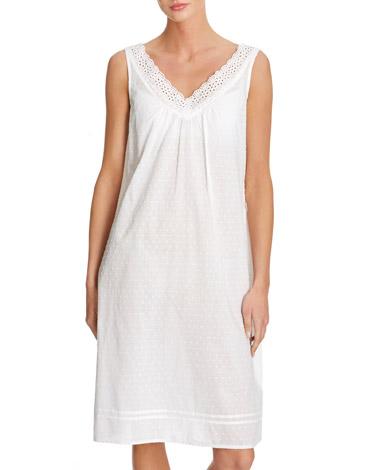 whiteSwiss Dot Nightdress