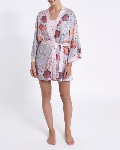 Mink Floral Kimono