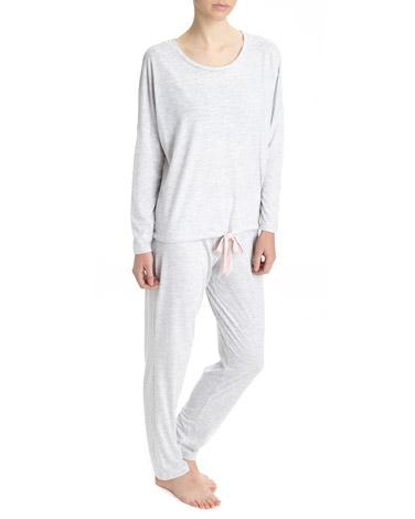grey-marlTie Hem Pyjama Set