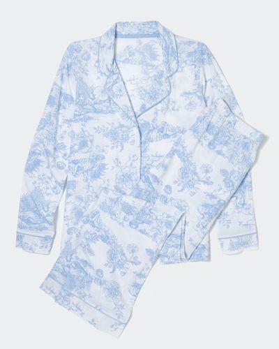 Blue Woven Pyjamas
