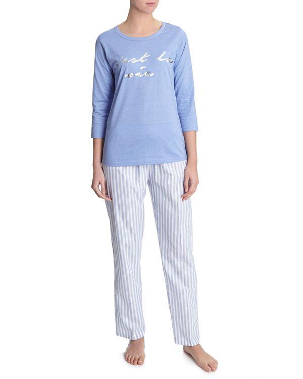Blue Stripe Lurex Pyjamas