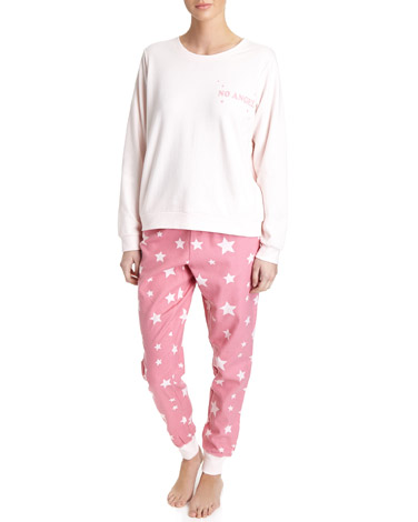 pink Star Lounge Pyjama Set