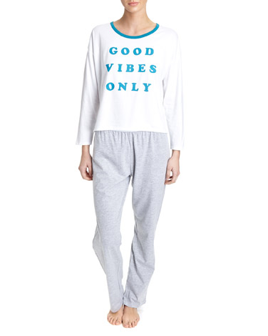 grey Good Vibes Pyjamas