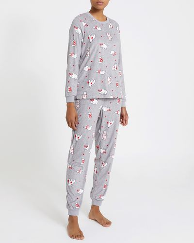 Polar Bear Velour Pyjamas