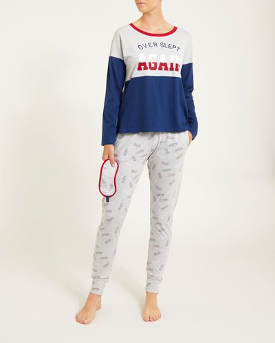 College Boxy Top Pyjama Set thumbnail