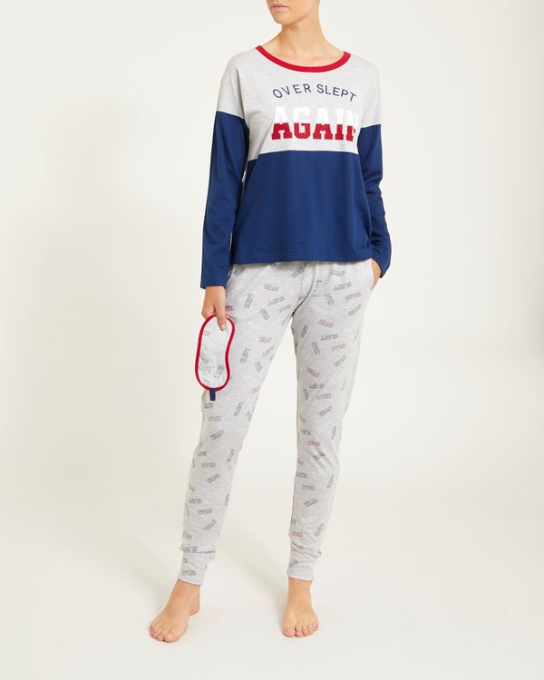 College Boxy Top Pyjama Set