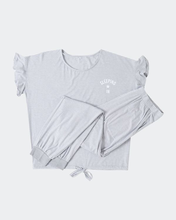 Frill Sleeve Pyjamas