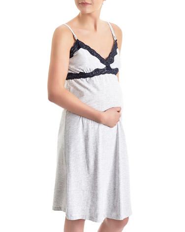 grey-marlNursing Nightdress