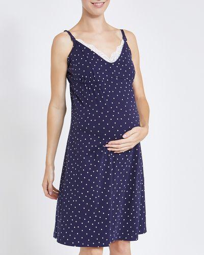Star Lace Trim Nursing Nightdress