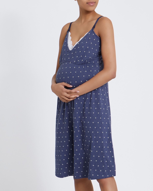 Maternity Print Nursing Nightdress