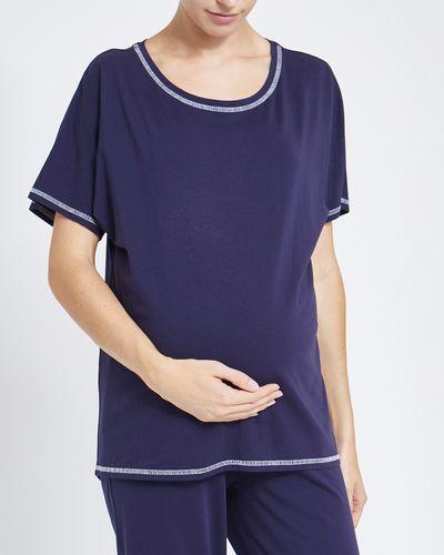 Maternity Navy Pyjama T-Shirt