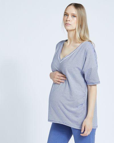 Maternity Stripe Pyjama Top
