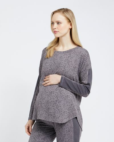 Maternity Piped Long-Sleeved Top