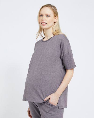 Maternity Piped Tee