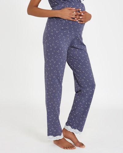 Maternity Denim Heart Print Pants