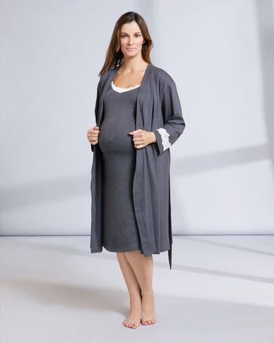 Maternity Lace Trim Robe