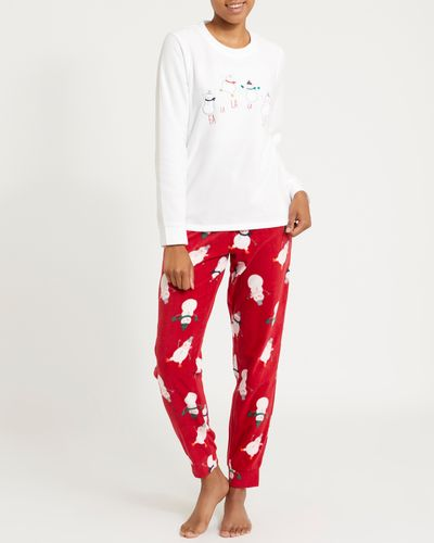 Snowman Micro Fleece Pyjamas