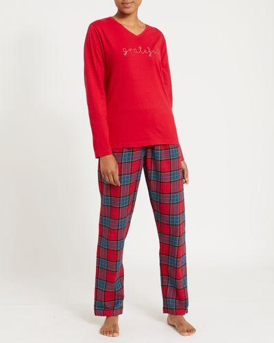 Grateful Knit And Woven Pyjamas