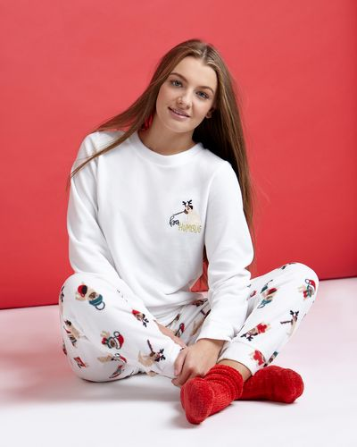 Christmas Dog Microfleece Pyjamas