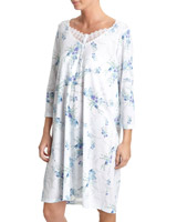 blue Trail Floral Nightdress (Short Length)