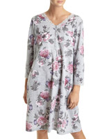 grey-marl Lace-Trimmed Nightdress (Short Length)