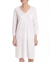 pink Nightdress With Lace