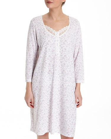 printMesh Lace Night Dress (Short Length)