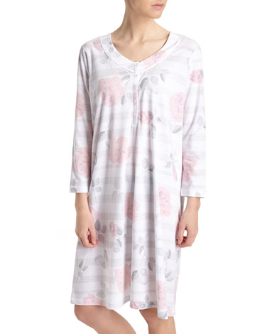 multiFloral Stripe Nightdress (Short Length)