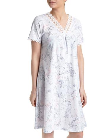 light-blueMesh Lace Nightdress (Short Length)