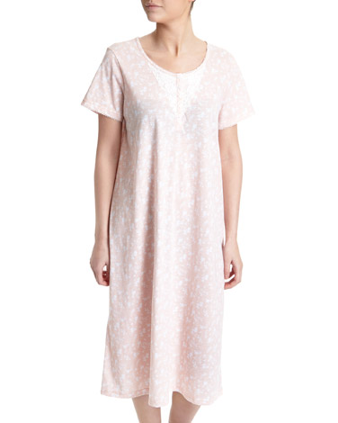 peachDitsy Lace Nightdress (Regular Length)