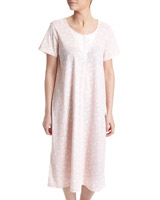 peach Ditsy Lace Nightdress (Regular Length)